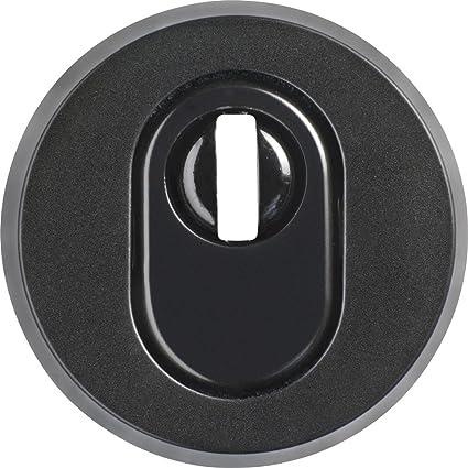 Abus RHZS415 B7 SB 09405 - Embellecedor de cerradura con perfil para bombín para puertas de