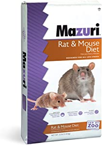 Mazuri Rodent | Nutritionally Complete Rat and Mouse Food | Ammonia-Reduction Formula - 25 Pound (25 lb.) Bag