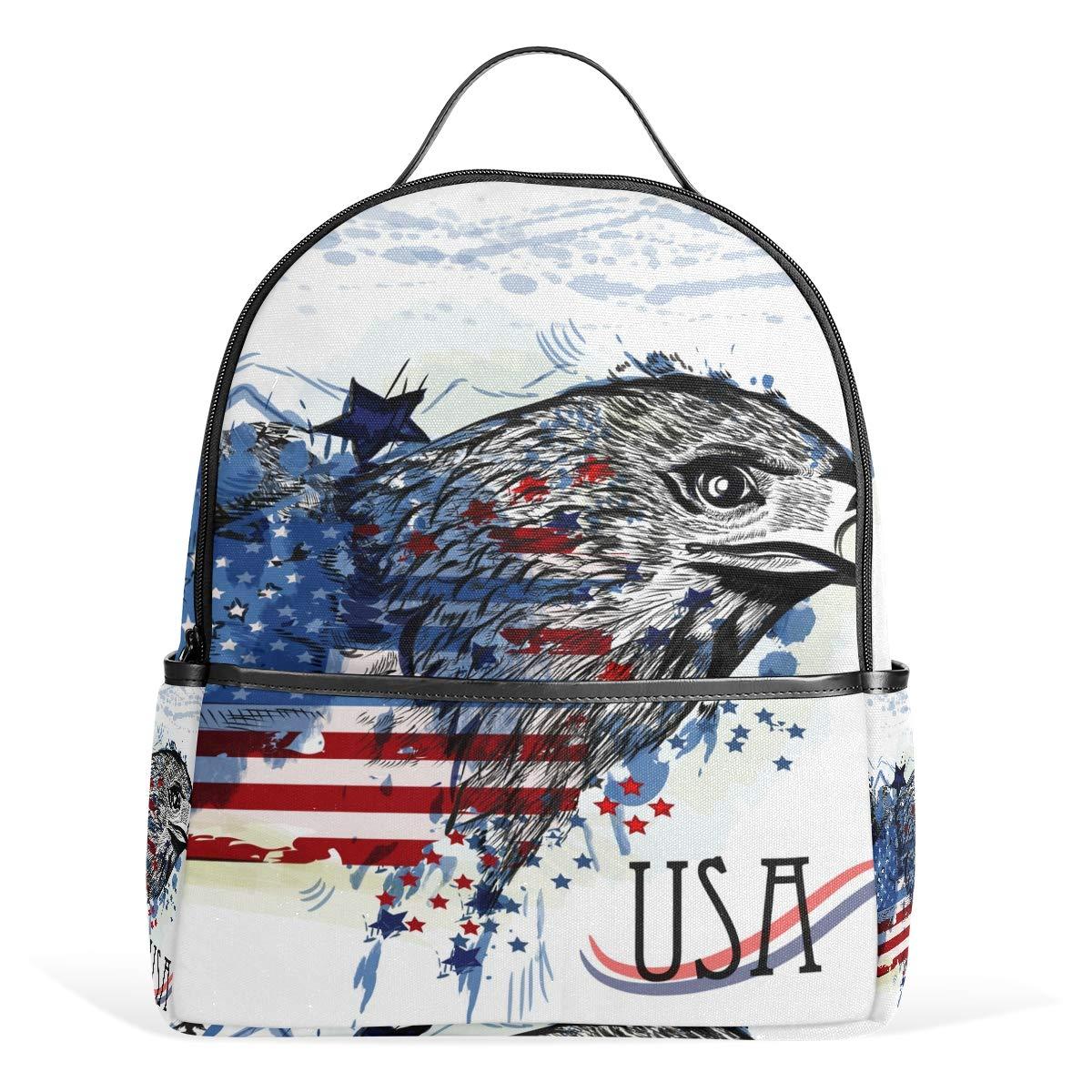 スクールバックパック イーグル旅行バッグ ティーンエイジャー用 男の子 女の子用   B07G9XNLT8