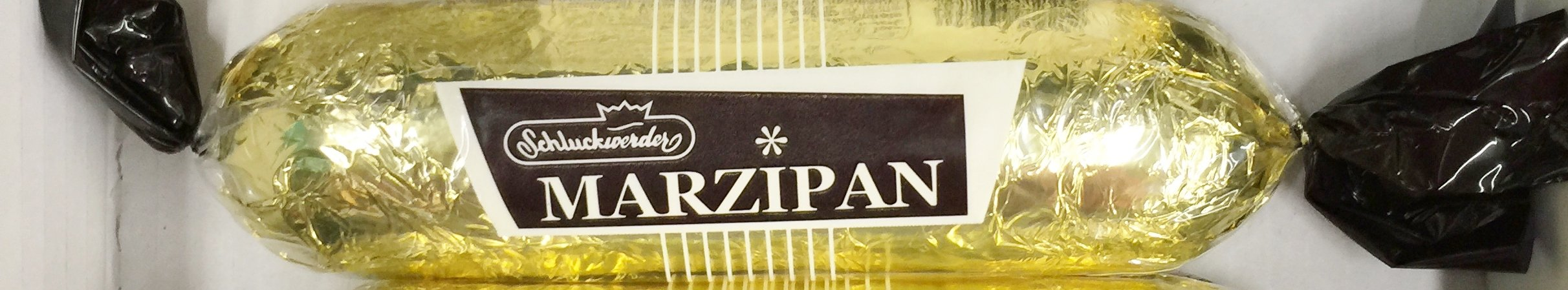 6.7oz Schluckwerder Marzipan Almond Paste 85% Covered with 13% Chocolate, Pack of 2