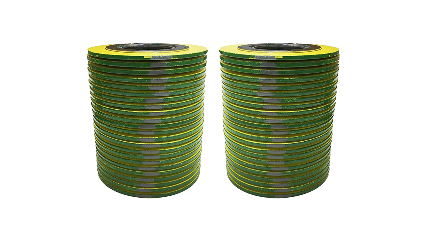 Green Band With Grey Stripes Sterling Seal 9000IR2500316GR2500X6 316L SS Spiral Wound Gasket with 316SS Inner Ring and Flexible Graphite Filler for 2-1//2 Pipe of NJ Pressure Class 2500 Supplied by Sur-Seal Inc Pack of 6