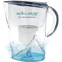 Epic Nano Filtro de agua jarra   Azul marino   3.5L   Sin BPA   nanofiltration elimina fluoruro, bacterias, virus, Giardia, Cryptosporidium, e-coli, plomo, cromo 6, PFOS, PFOA, metales pesados, pesticidas