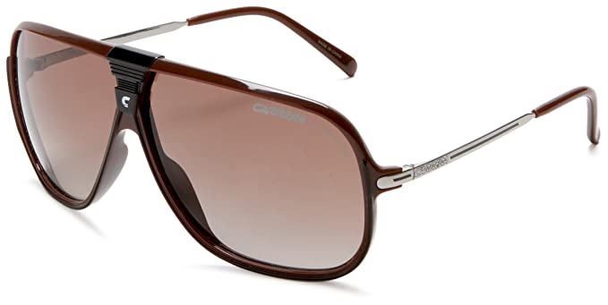 efb8b4dcf Carrera Picchu Navigator Sunglasses, Brown/Black Frame/Brown Grey Lens, One  Size