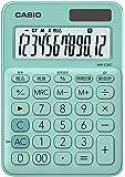カシオ 電卓 12桁 (ミントグリーン)CASIO カラフル電卓 ミニジャストタイプ MW-C20C-GN