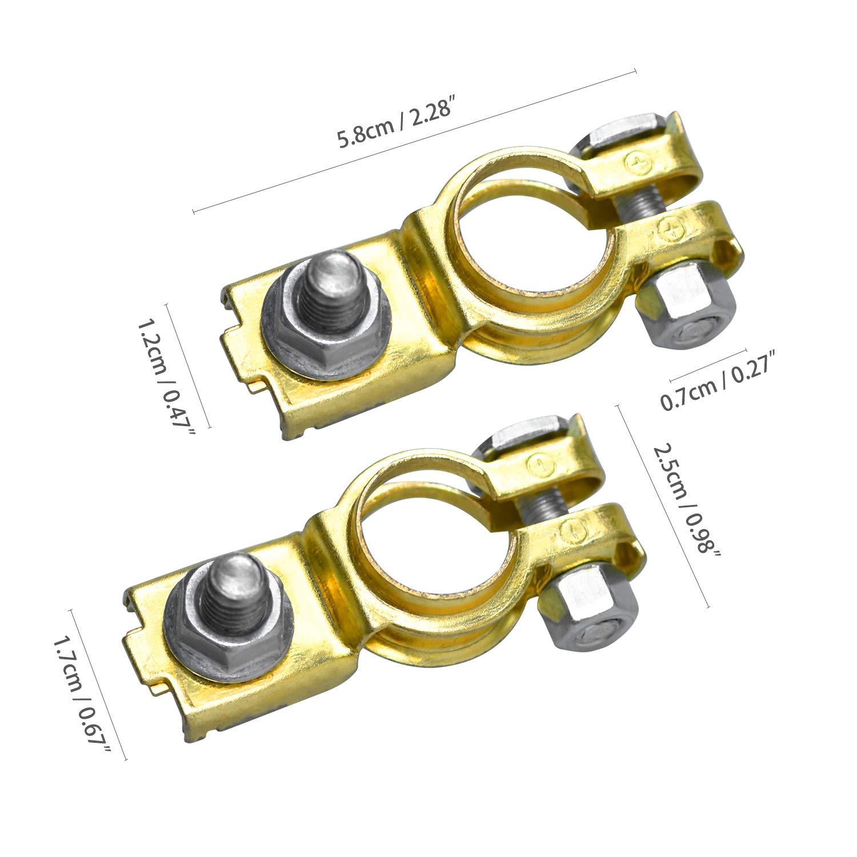 Universel Bornes de Batterie pour Voiture//Bateau Lib/ération Rapide Cosse Batterie Positif et N/égatif Connecteurs de Batterie
