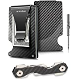 "Minimalist Carbon Fiber Wallet & Keorganizer | RFID Blocking Wallet | Carbon Fiber Money Clip | Credit Card Holder for Men and Women | The Perfect Gift ""Money Clip"" 