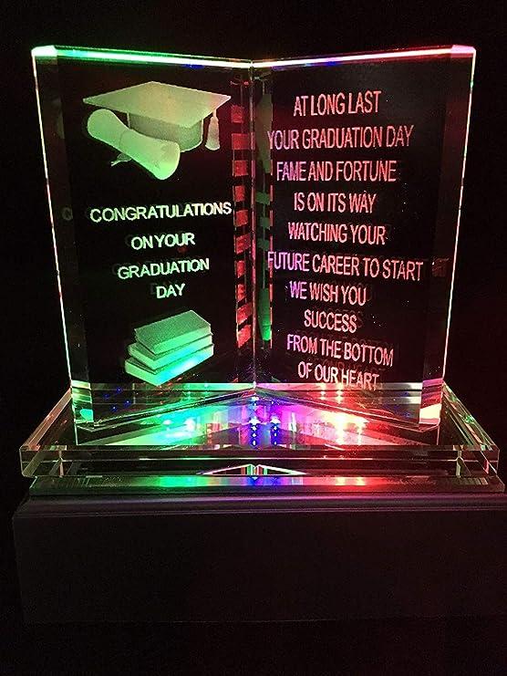 Congratulation Graduation Gift Owl in Hat Keepshake University Exam Present