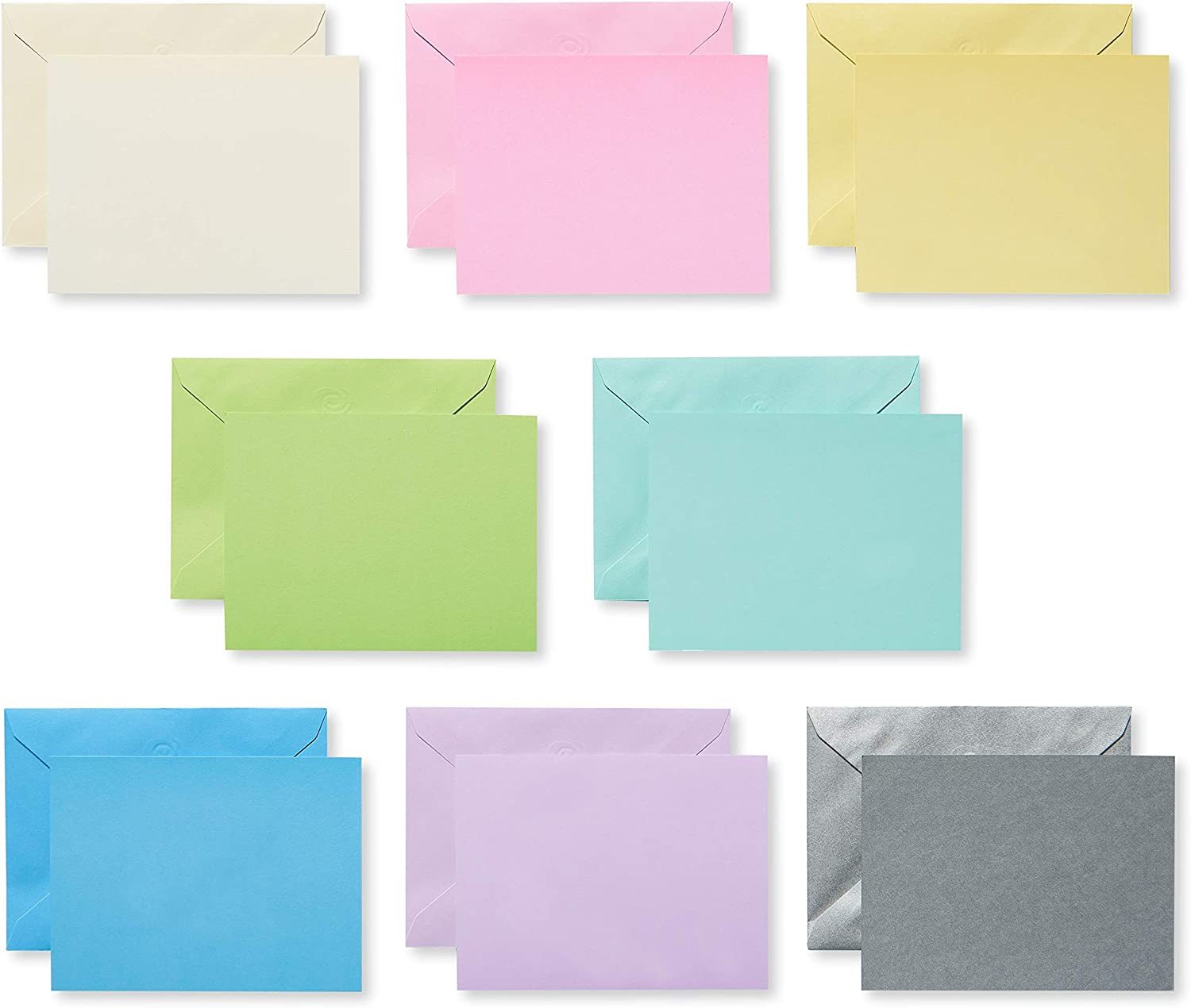 American Greetings Single Panel Blank Cards with Envelopes, Pastel (100-Count)