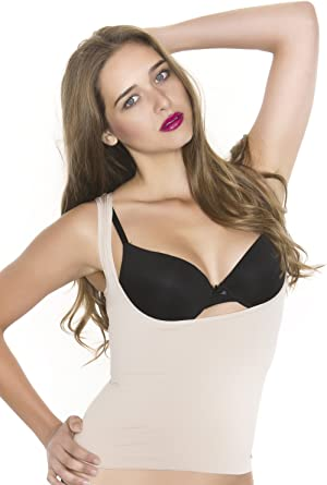Black Fuchsia Womens Under The Bra Shapewear Tank Top Torsette