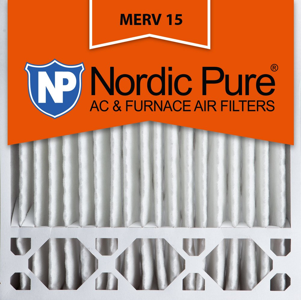 Nordic Pure 20x20x5 Honeywell Replacement MERV 15 Pleated AC Furnace Air Filter Box of 2 4-3//8 Actual Depth