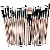 Kolight20 Pcs Pro Makeup Set Powder Foundation Eyeshadow Eyeliner Lip Cosmetic Brushes