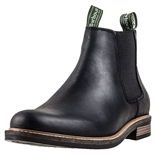 0c9bd38251e Mens Barbour Farsley Smart Leather Black Work Office Ankle Chelsea Boots