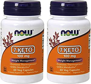 Now Foods - 7 Keto 100 Mg 60 Vcaps Pack Of 2