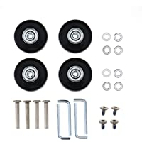 2 Pairs Luggage Replacement Wheels Axles Rubber Deluxe Repair OD 45mm