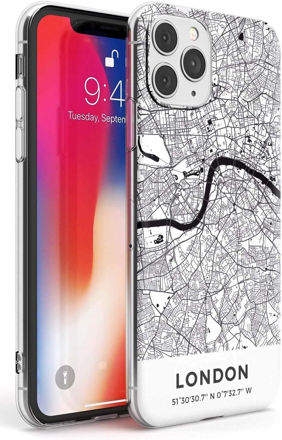 Mapa De Londres, Reino Unido Estuche Delgado para iPhone 11 Pro   Claro Silicona TPU Protector Ligero Ultra Thin Cubrir Modelo Impreso   Viaje Inglaterra Pasión De Viajar Capital Europa: Amazon.es: Electrónica