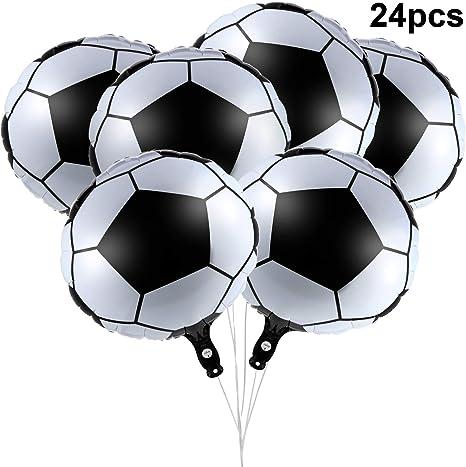 24 Piezas 18 Pulgadas de Fútbol Foil Globos Metallic Mylar Globos ...