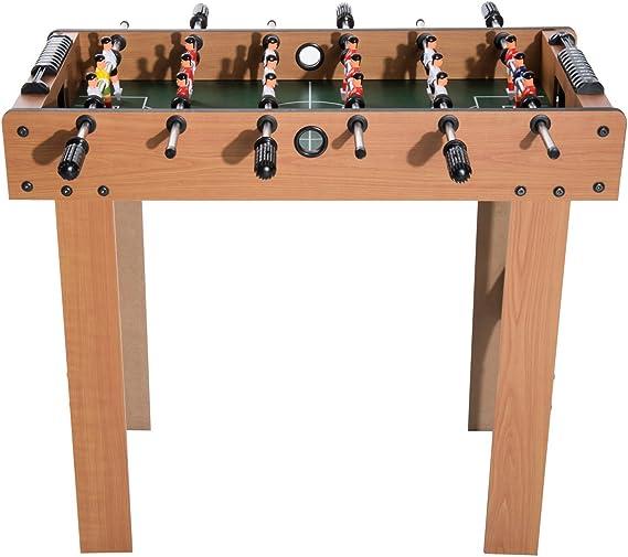 Homcom - Futbolín profesional para niños con barras de madera MDF ...