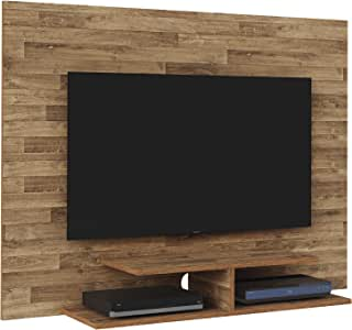 Artely Jet Plus Wall Panel for 42 inch TV, Rustic Brown, W 120 x D 28 x H 89.5 cm