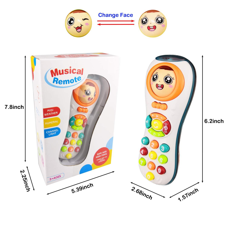Spielzeug für 1 Jahr altes Mädchen, Spielzeug Fernbedienung für 2-3 ...