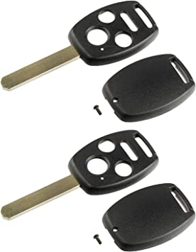 2 Replacement For 2012 2013 2014 Honda Fit Key Fob Remote Shell Case