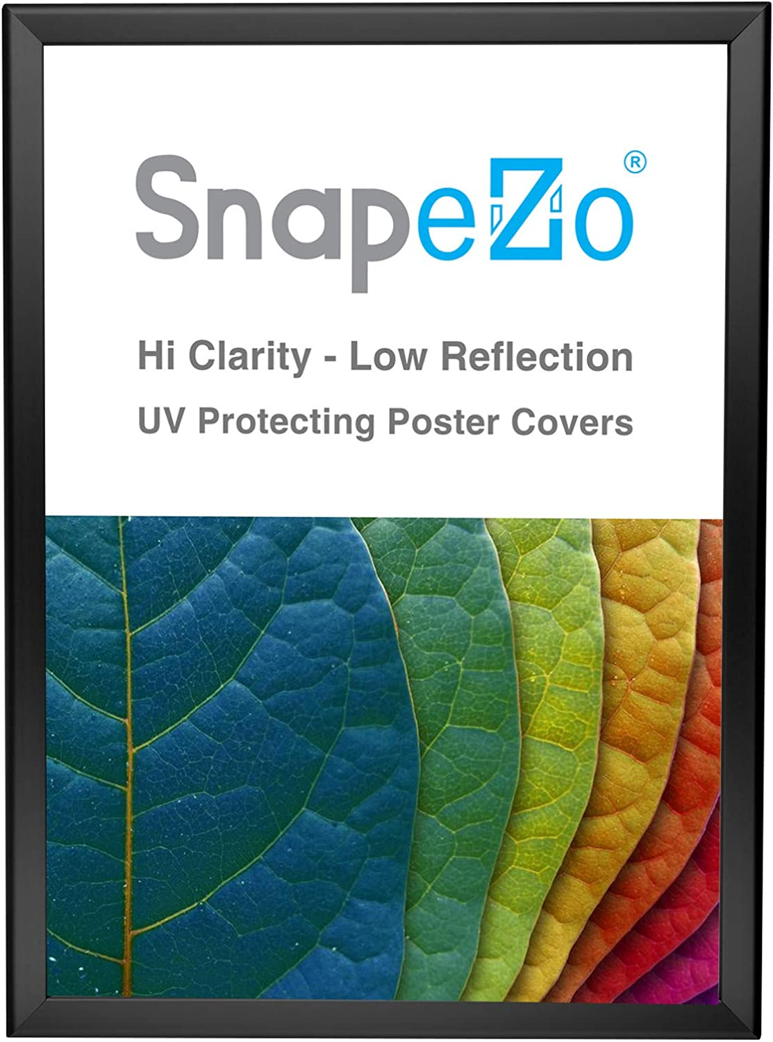 SnapeZo Photo Frame 14x20, Black, 1.25 Inch Aluminum Profile, Front-Loading Snap Frame, Wall Mounting, Professional Series