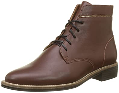 Newton Boots, Derbys Femme, Marron (Cognac), 36 EUSchmoove