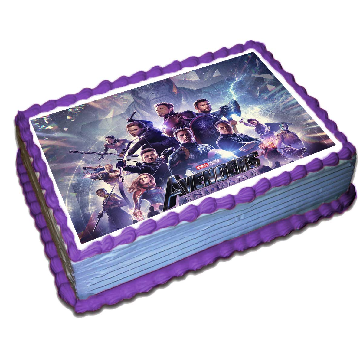 Pleasant Avengers End Game Cake Topper Icing Sugar Paper 8 5 X 11 5 Inches Funny Birthday Cards Online Elaedamsfinfo