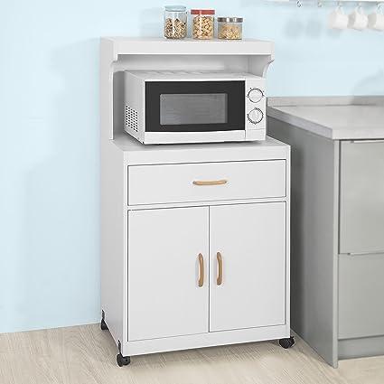 Haotian Microwave Shelf Mini Shelf, Kitchen Appliances Storage Shelf Rack,  FSB12 W