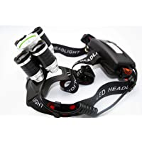 Pride Spark Head Torch/Head Lamp - Modle MS-5 Reachargable Bright Flash Light with T6 LEDs 6000 LM Whether Proof Camping/Fishing or for Electricians Plumbers