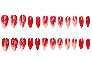 Amazon.com : 24 Pcs of 12 Different Sizes Handmade Finger Fake Nail for Halloween Vampire Display : Beauty