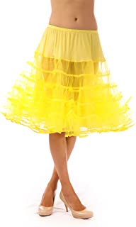 product image for Malco Modes Meghan Knee Length Net Crinoline for Stiff Structured Support Under Vintage Clothing and Rockabilly Wear