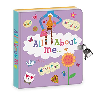 """Peaceable Kingdom All About Me Diary 6.25"""" Lock and Key, Lined Page Diary for Kids: Peaceable Kingdom Press: Toys & Games"""