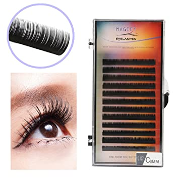 24a90990507 Amazon.com : False Eyelashes 2019 New Professional Natural Thick Individual  Lashes Eyelash Extensions 0.07 C Curl (E) : Beauty
