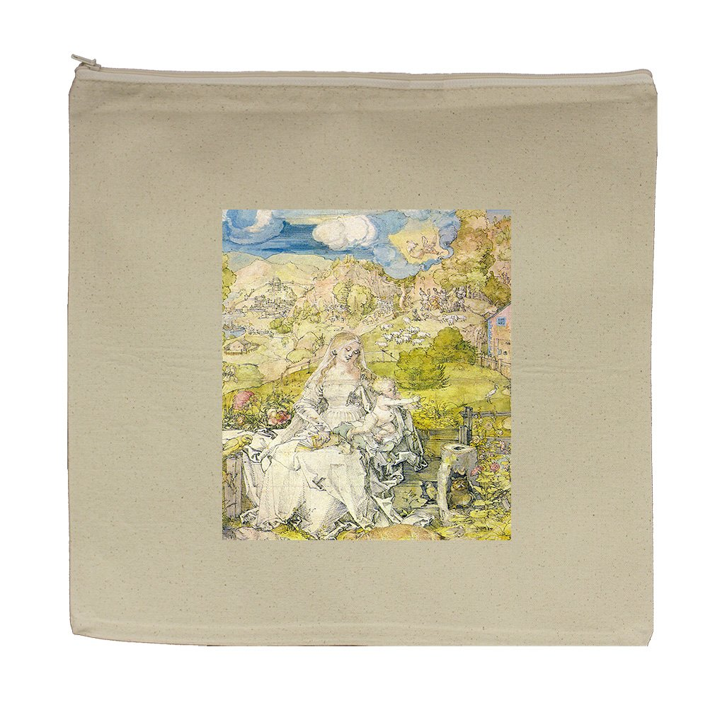 Madonna With The Many Animals (Durer) Canvas Zipper Tote Bag Makeup Bag