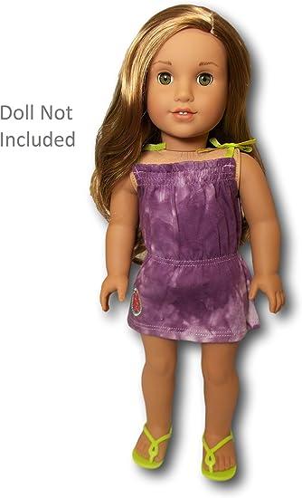 Hair Clip Sunglasses NEW Sandals American Girl Lea Beach Dress Purple Dress