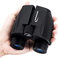 Aurosports 12x25 High Power Compact Binoculars Telescope for Adults Kids with Low Light Night Vision,Lightweight Folding Binocular for Bird Watching Hiking Travelling Concert Hunting