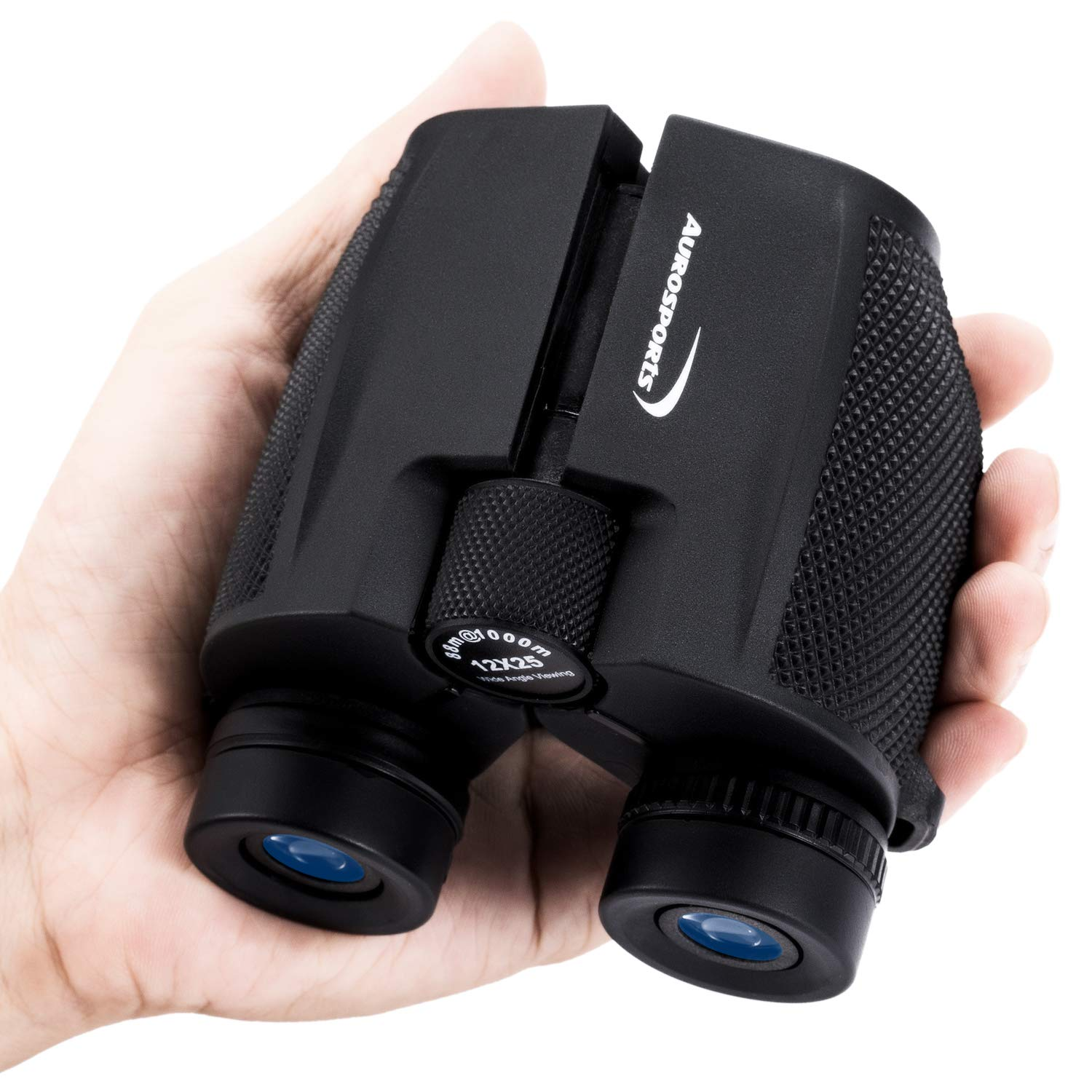 Aurosports 12x25 High Power Compact Binoculars Telescope for Adults Kids with Low Light Night Vision,Lightweight Folding Binocular for Bird Watching Hiking Travelling Concert Hunting by aurosports