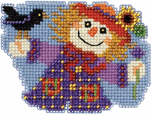 Happy Halloween Moonlit Night Counted Cross Stitch Glass Bead Mill Hill