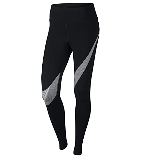 Amazon.com: Nike Womens Yoga Fitness Athletic Leggings B/W S ...