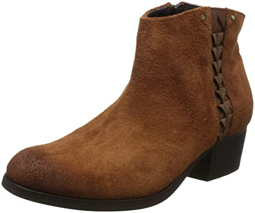 Clarks 3632,84D Maypearl Fawn Tan Suede Womens Ankle Boots