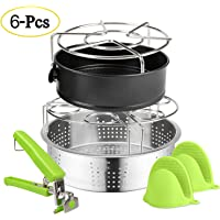 Expower 6-Piece Instant Pot Accessories Set (A-Silver)