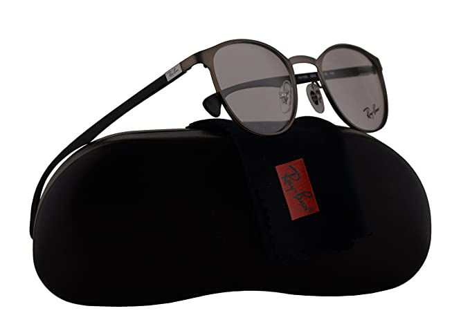 e612df4084 Image Unavailable. Image not available for. Colour  Ray Ban RX6355  Eyeglasses 47-20-145 Matte Gunmetal ...