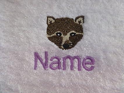 Toalla de baño con un zorro Logo y nombre de su elección. Por favor envíanos