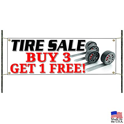 Amazon Com Tire Sale Business Buy 3 Get 1 Free Promotional