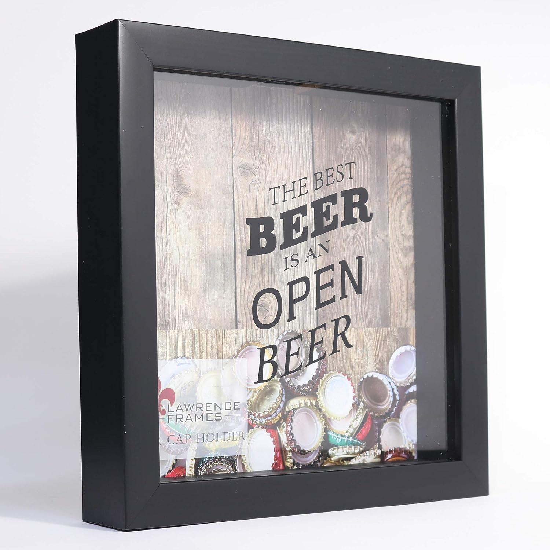 Lawrence Frames 10x10 Black Beer Cap Holder Shadow Box 164410 ...