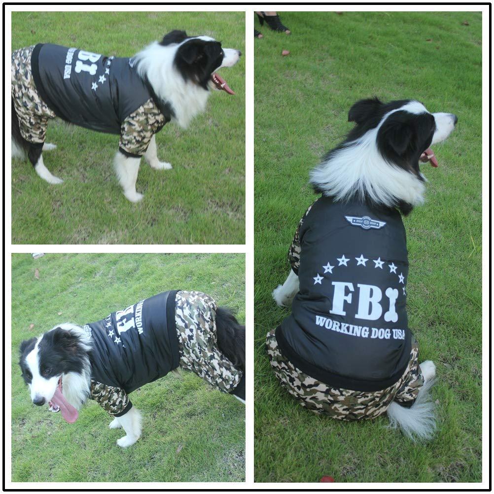 MARCU Home Abbigliamento per per per Cani Vestiti per Cani Vestiti Autunnali e Invernali Pet Camouflage Grande Cane a Quattro Zampe Cappotto di Cotone (Colore   Camouflage, Dimensione   9XL) 3e5ce2