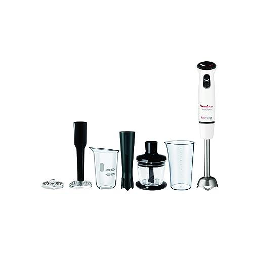 Moulinex Infiny Force DD865110 Pied Mixeur Plongeant 4 en 1 Blanc