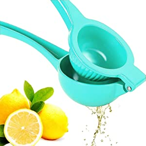 Premium Quality Metal Lemon Squeezer, Lime Juice Press, Manual Press Citrus Juicer For Squeeze The Freshest Juice - (Light Blue)