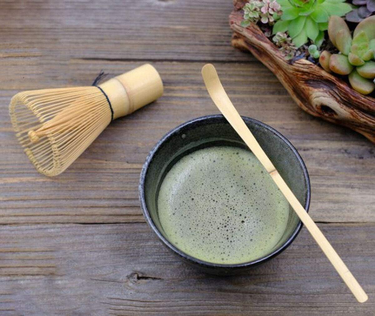 Matcha Whisk Set ???? ?? - Brush + Ceramic Bowl + Scoop/???? Japanese Green Tea Bamboo Preparing Tool 3 Piece Set