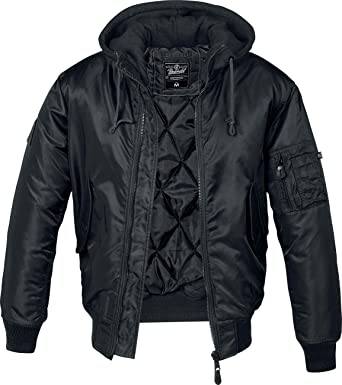 check out cd560 b720d Brandit MA1 Sweathood Bomberjacke schwarz